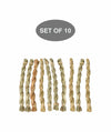 Made Terra Pet Toys Pack of 10 SeaGrass Chew Sticks | Non-toxic Pet Snacks & Toys for Genuinea Pigs, Rabbits and Small Pet