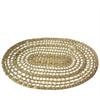 Made Terra Placemats Oval Seagrass Placemat (Set 4) | Rustic Hand Woven Plate Mats for Party, Wedding