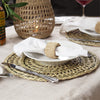 Made Terra Placemats Round Seagrass Placemat (Set 4) | Rustic Hand Woven Plate Mats for Party, Wedding