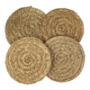 Made Terra Placemats Braided Placemat Round Seagrass Placemat (Set 4) | Rustic Hand Woven Plate Mats for Party, Wedding