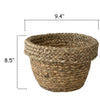 Made Terra Planter Cover Woven Plant Pot Holder Cover | Natural Seagrass Willow Wicker Containerfor 9 inch Indoor Planter