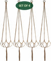 Made Terra Planter Hanger 4 Pack Jute Straw Macrame Planter Hanger | Hanging Planter Rope (47 Inch, 6 Legs)