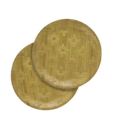 "Made Terra Plate Large (11"") Round Bamboo Plate 