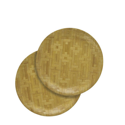 "Made Terra Plate Small (9.8"") Round Bamboo Plate 