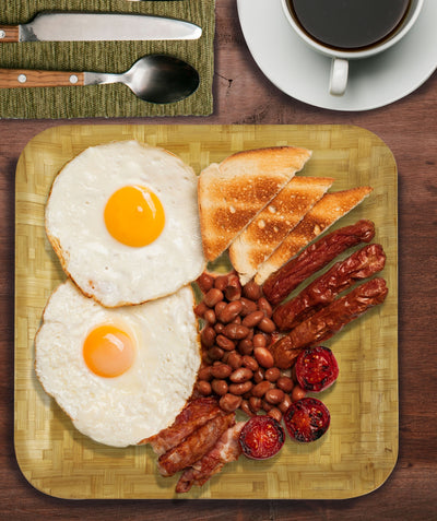 Made Terra Plate Square Bamboo Plates | Anti-bacterial Plate Set for Breakfast, Dining and Coffee