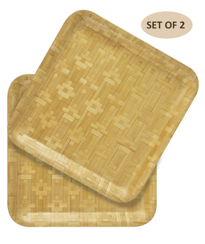 "Made Terra Plate Large (13"") Square Bamboo Plates 