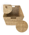 Made Terra Seagrass storage basket 12x12 Wicker Storage Cube Basket | Water Hyacinth Storage Bin for Better Organization