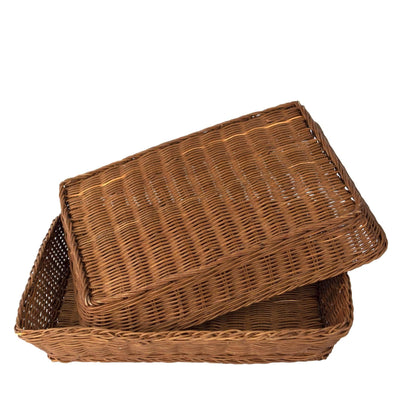 Made Terra Serving basket Rattan Bread Fruit Basket | Serving Trays for Dining, Coffee Table, Kitchen Counter