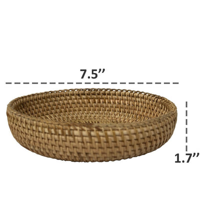 Made Terra Serving basket Wicker Small Storage Basket | Handwoven Display Basket for Serving or Storage