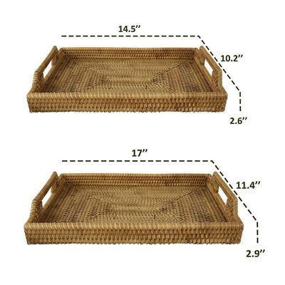 Made Terra Serving Tray Wicker Serving Trays and Platters with Handles | EssentialTableware For Restaurants & Parties