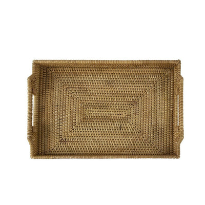 Made Terra Serving Tray Small Wicker Serving Trays and Platters with Handles | EssentialTableware For Restaurants & Parties