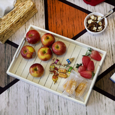 Made Terra Serving Tray Wooden Serving Tray w Handles | Ottoman Tray,Wood Tray,Wood Serving Tray
