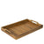 Made Terra Serving Tray Oak Brown Wooden Serving Tray w Handles | Ottoman Tray,Wood Tray,Wood Serving Tray