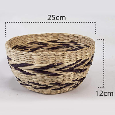 Made Terra Set 2 Seagrass Woven Fruit Basket Bowls