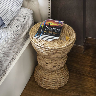 Made Terra Storage basket Multipurpose Hand Woven Water Hyacinth Wicker Basket for Laundry, Storage Bins with Lid
