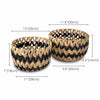 Made Terra Storage basket Nesting Round Wicker Storage Basket Bins (Set 2) | Decorative Basket Organizer Hamper