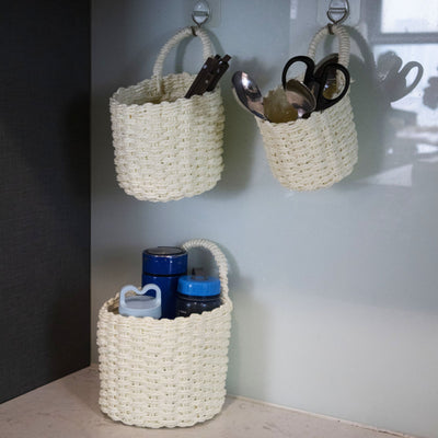 Made Terra Storage basket Woven Wall Hanging Baskets for Storage and Plant Pot Cover