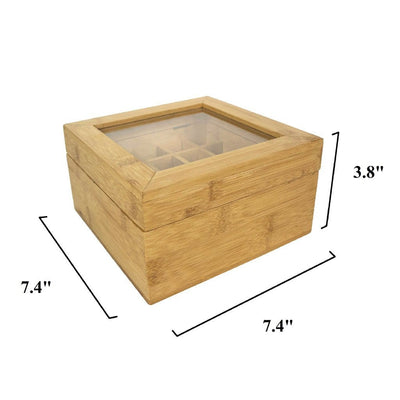 Made Terra Storage box Multi Function Bamboo Storage Box | 25 Slot Wooden Essential Oil Box