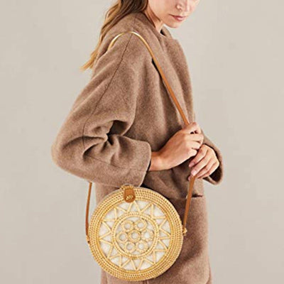 rattan bag in winter