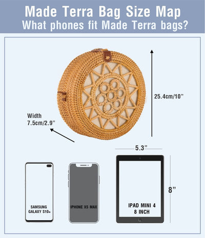 over-sized  straw bag for all cell phone sizes