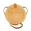 Made Terra Straw bags Genuine Leather 10-Inch Round Rattan Bag | Summer Essential Straw Bag for Women (Natural beehive)