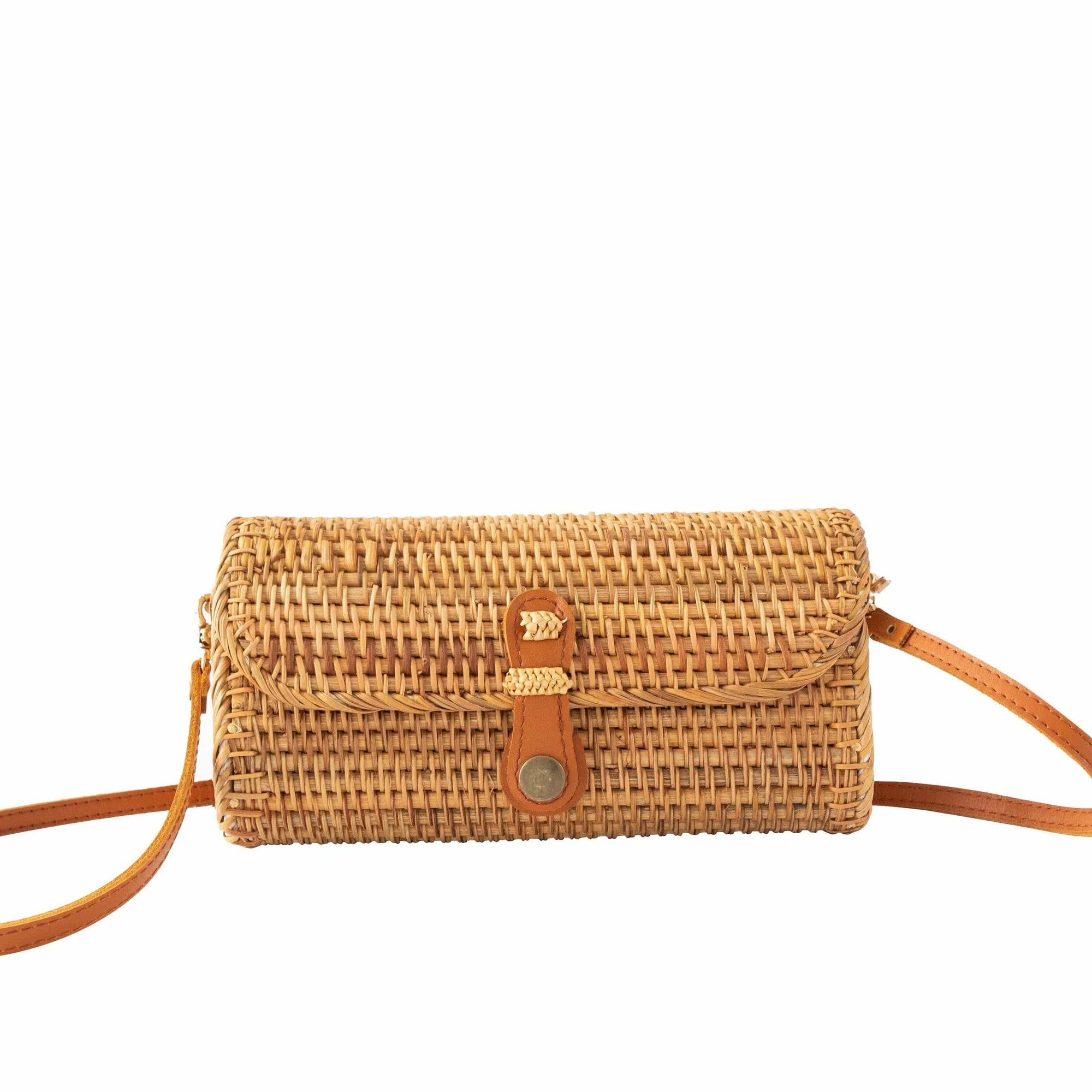 Made Terra Straw bags Rattan Clutch Purse & Bag | Straw Wicker Evening Clutch Bag (Vietnamese Pattern)