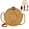 Made Terra Straw bags Star Round Rattan Bag | 8-Inch Summer Essential Straw Bag for Women