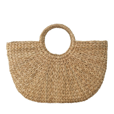 Made Terra Tote Bag Seagrass Woven Straw Tote Bag | Boho Vintage Summer Beach HandBag With Handle