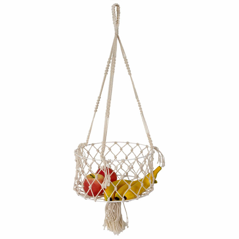 Made Terra Wall Basket Wall Hanging Fruit Basket | Wire Basket Organizer and Storage for Kitchen