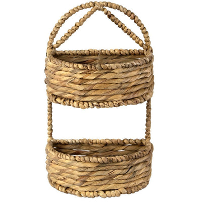 wicker wall hanging basket