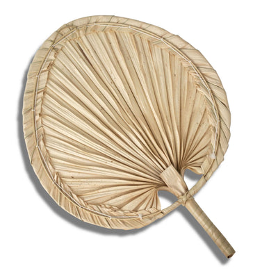 Made Terra Wall Fan Palm Leaf Hand Fan and Wall Decor | Wall Hanging Pendan Fan Boho Woven Home Decor Wall Pediment | Beautiful Wall Art for Apartment, Room, Home Decoration
