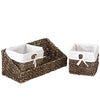 Made Terra SG-Brown Wall-mount Wicker Shelf w Storage Baskets | Tray and Removable Liners, Nesting Wall Organisation Container