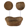 Made Terra Wicker Basket Oval Wicker Serving Baskets (11-Inch) | Restaurant Serving & Tabletop Display Baskets