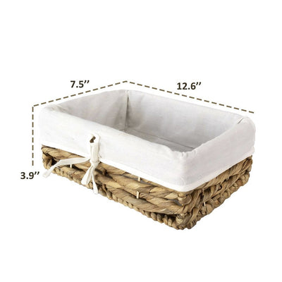 Made Terra Wicker Basket Storage Container Baskets with Liner - Water Hyacinth | Multi-funtional storage solution