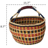 Made Terra Wicker Basket Wicker Bolga Basket | Woven Picnic & Market Baskets with Handles