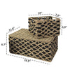 Made Terra Wicker Basket Wicker Lidded Nesting Baskets (Set 3) | Baskets for Shelves w Lids & Insert Handles