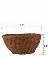 Made Terra Wicker Basket Wicker Serving Bowl Baskets | Restaurant Serving & Tabletop Display