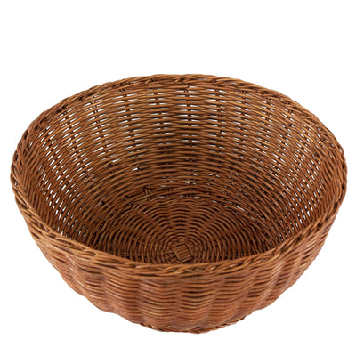 Made Terra Wicker Basket Set of 1 Wicker Serving Bowl Baskets | Restaurant Serving & Tabletop Display