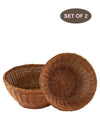 Made Terra Wicker Basket Set of 2 Wicker Serving Bowl Baskets | Restaurant Serving & Tabletop Display