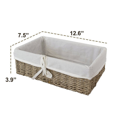 Made Terra Wicker Basket Woven Wicker Storage Baskets (Seagrass) | Decorative Baskets and Bathroom Organizers