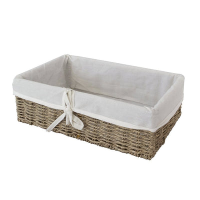 Made Terra Wicker Basket Set of 1 Woven Wicker Storage Baskets (Seagrass) | Decorative Baskets and Bathroom Organizers