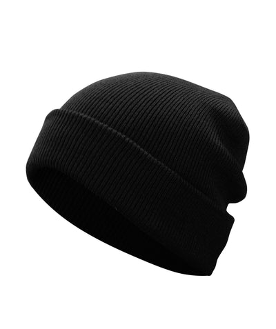 Made Terra Wool Hat Black WA Beanie for Women and Men - Warm&Soft Winter Acrylic Knit Skull Cuff Cap