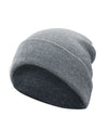 Made Terra Wool Hat Light Grey WA Beanie for Women and Men - Warm&Soft Winter Acrylic Knit Skull Cuff Cap