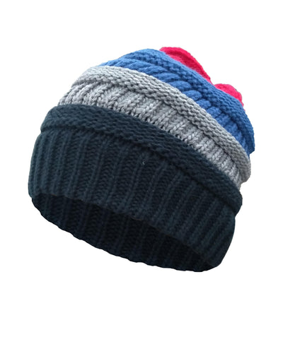Made Terra Wool Hat 4 Colors Mixed / Set of 1 Beanie for Women and Men - Warm&Soft Winter Acrylic Patterned Knit Skull Cap