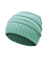 Made Terra Wool Hat Aqua WB / Set of 1 Beanie for Women and Men - Warm&Soft Winter Acrylic Patterned Knit Skull Cap