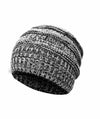 Made Terra Wool Hat Black- White WB / Set of 1 Beanie for Women and Men - Warm&Soft Winter Acrylic Patterned Knit Skull Cap
