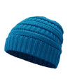 Made Terra Wool Hat Blue WB / Set of 1 Beanie for Women and Men - Warm&Soft Winter Acrylic Patterned Knit Skull Cap