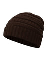 Made Terra Wool Hat Brown WB / Set of 1 Beanie for Women and Men - Warm&Soft Winter Acrylic Patterned Knit Skull Cap