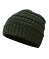 Made Terra Wool Hat Dark Green WB / Set of 1 Beanie for Women and Men - Warm&Soft Winter Acrylic Patterned Knit Skull Cap