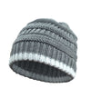 Made Terra Wool Hat Dark Grey WB / Set of 1 Beanie for Women and Men - Warm&Soft Winter Acrylic Patterned Knit Skull Cap